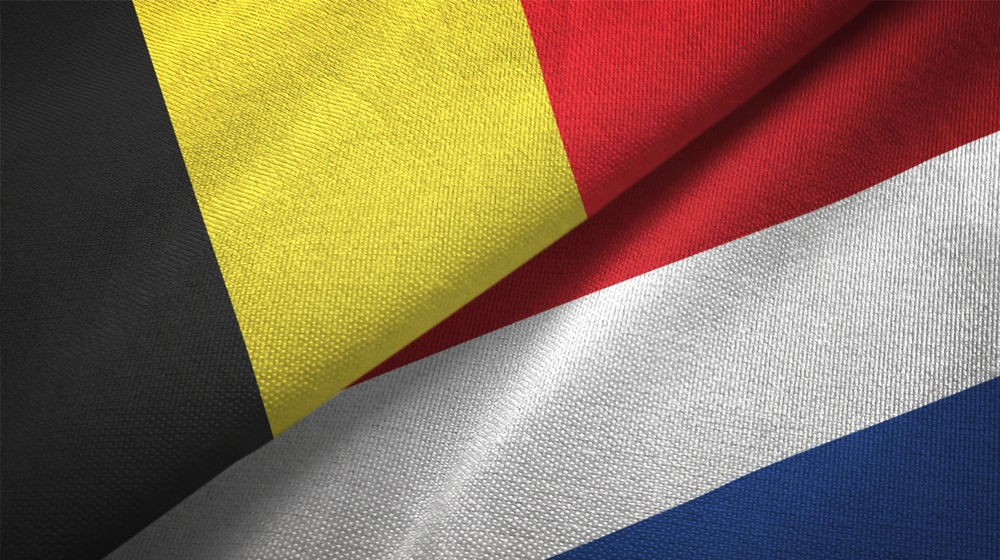 Belgiens og Hollands flag