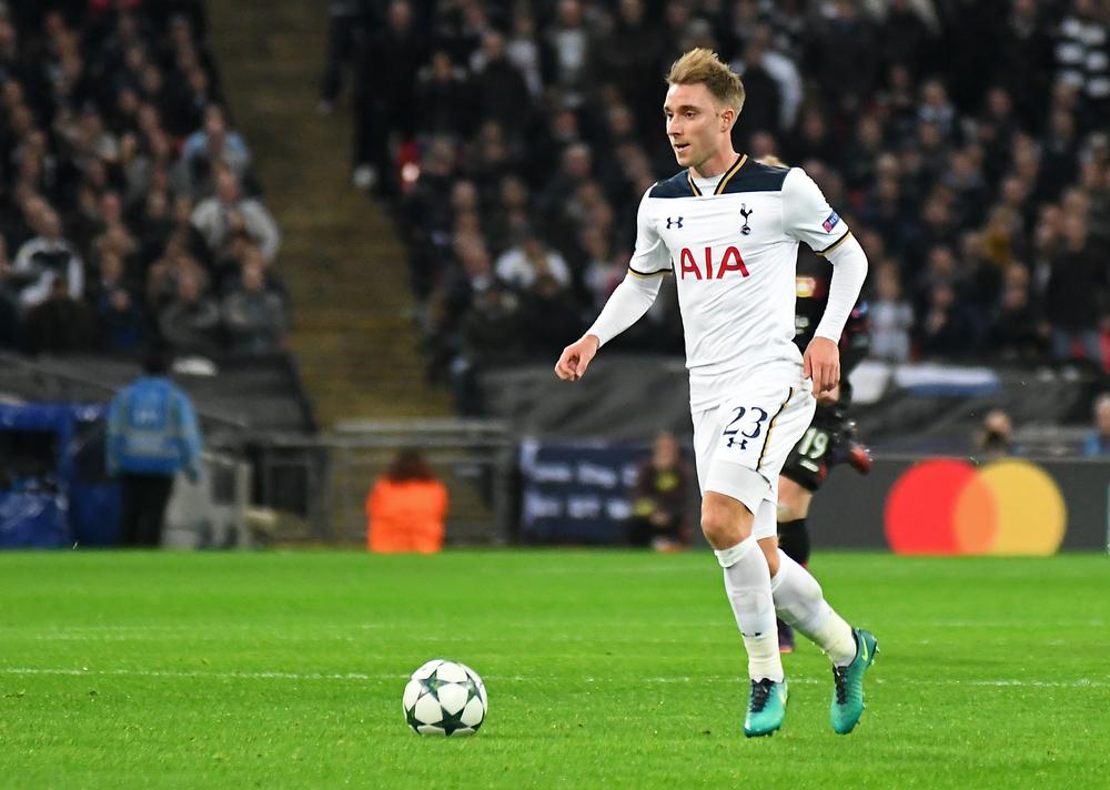 Billede af Christian Eriksen i aktion for Tottenham.