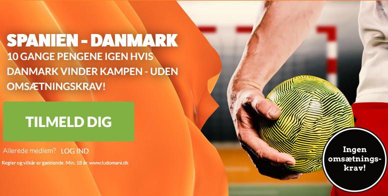 LeoVegas tilbud til Danmark mod Spanien i EM haandbold