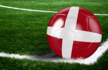 Fodbold med Danmark flag