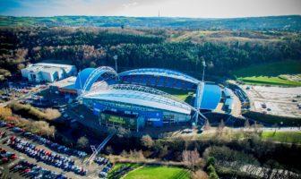 Billede af Huddersfields hjemmebane set fra luften