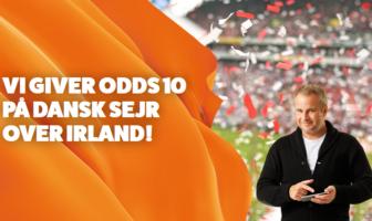 Leovegas tilbud med Uffe Holm giver odds 10 på Danmark mod Irland