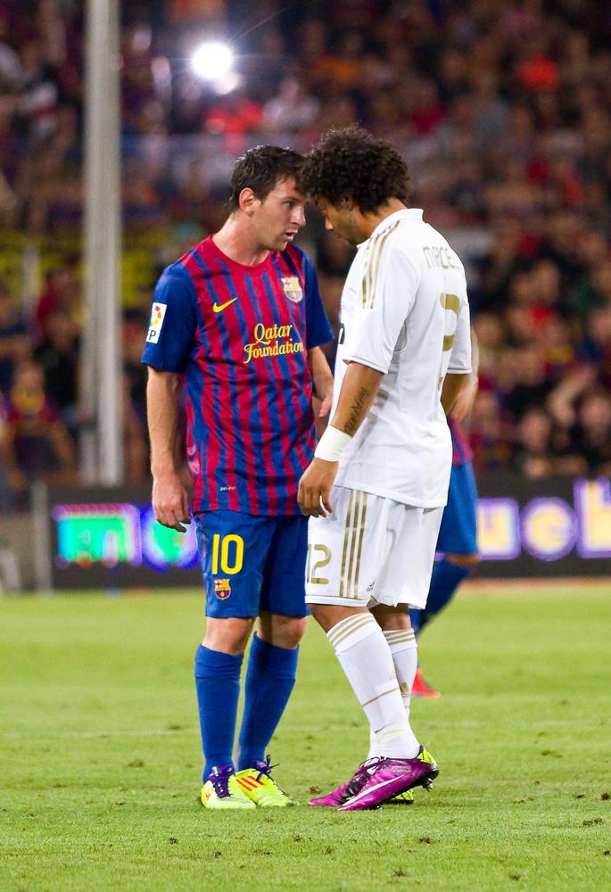 Lionel Messi og Marcelo Vieira i en klassisk El Clásico-situation. (foto: shutterstock.com)