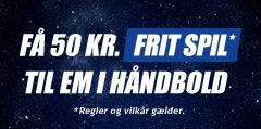 Oddset giver 50 kroner gratis til EM håndbold