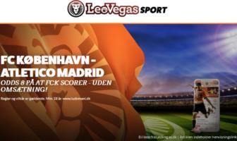 LeoVegas tilbud med odds 8 på FC København mod Atletico Madrid